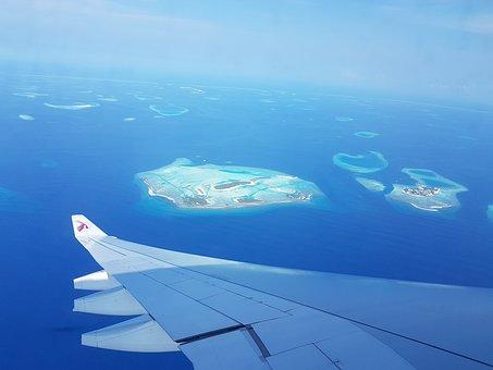 モルディブ, フライト, 島