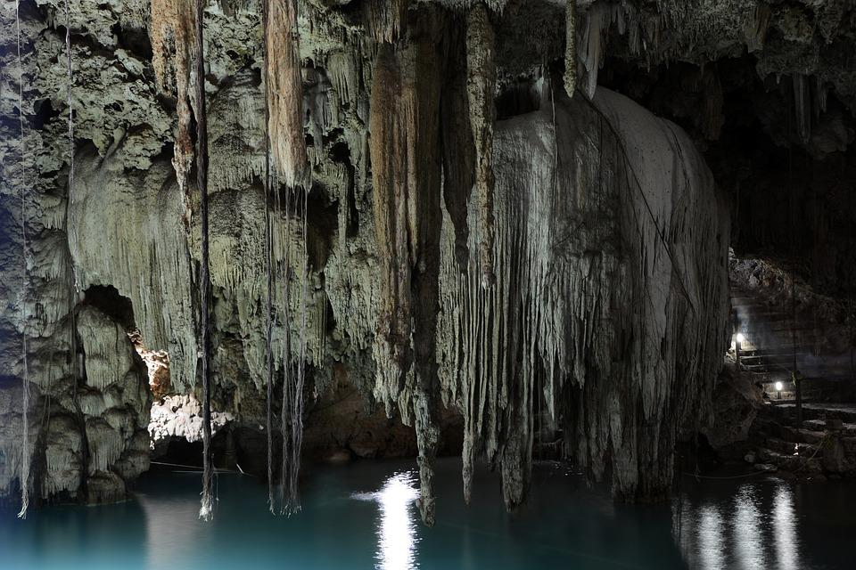 Cenote, Grotte, Mexique, Yucatan, Kalksteinloch