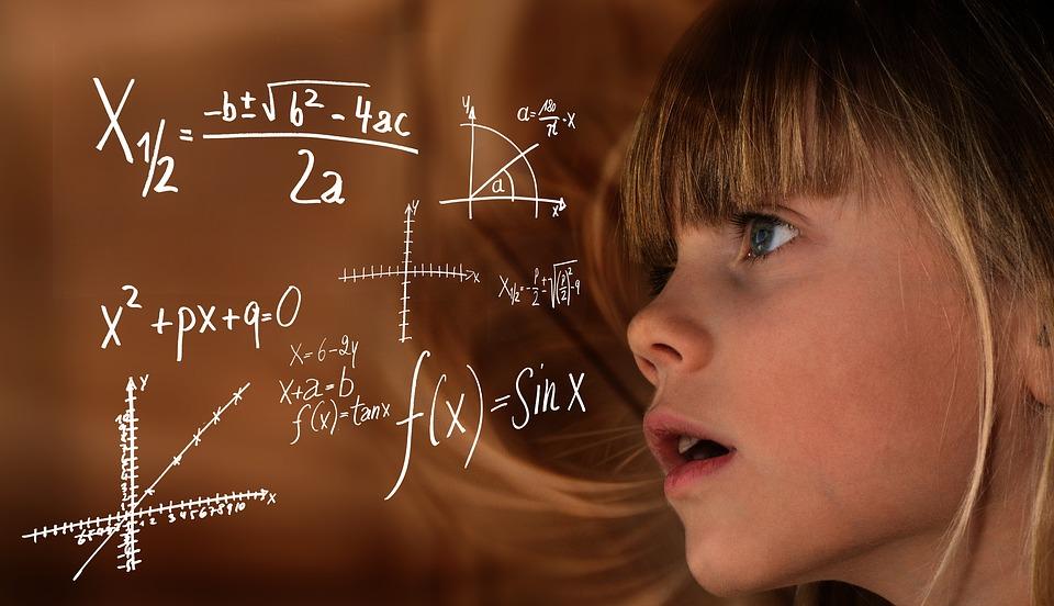 Aprender, Matemáticas, Niño, Chica, Fórmula, Física