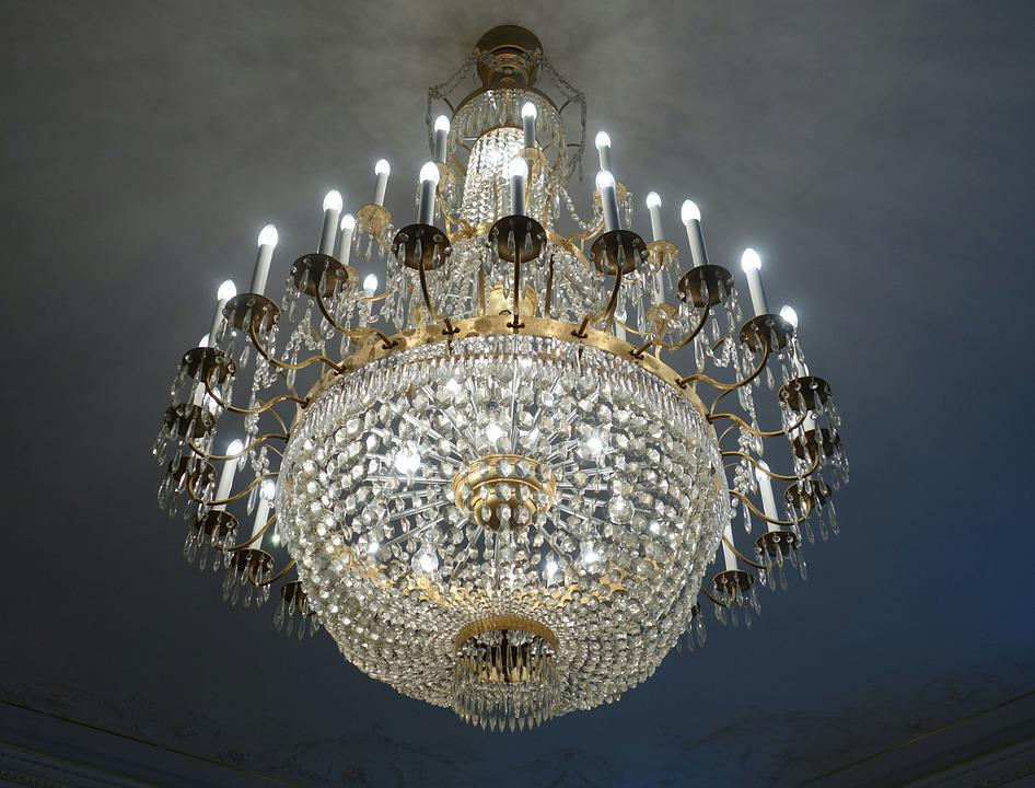 Free photo chandelier crystal chandeliers free image on chandelier crystal chandeliers luster light mozeypictures Images