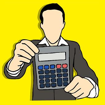 会計士, 計算, 税, 番号, ビジネス, スケッチ ブック, シンボル