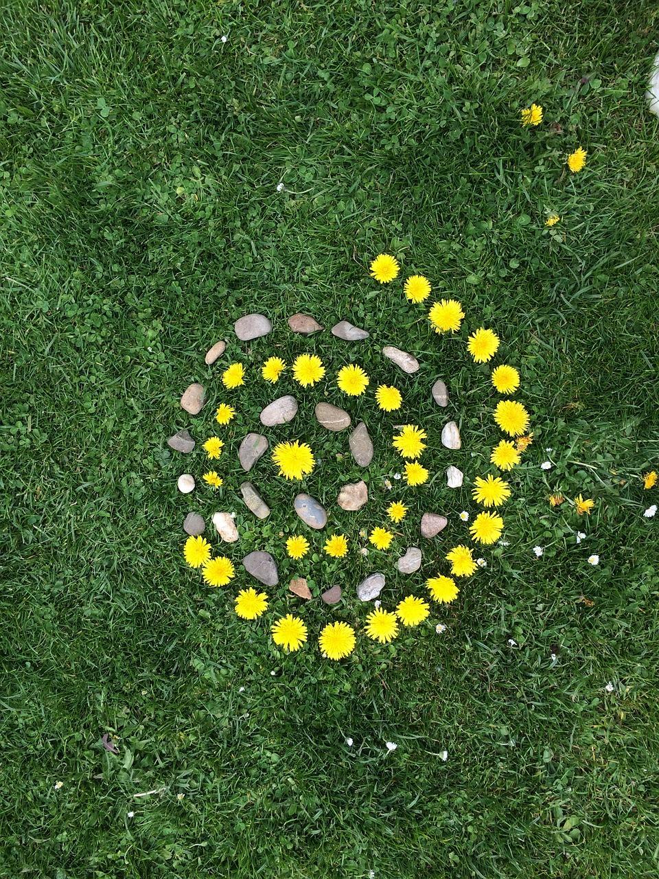 Land Art Kinder Blumen - Kostenloses Foto auf Pixabay