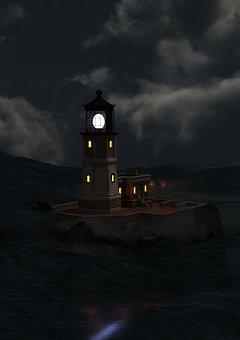 Lighthouse, Daymark, Shipping, Beacon