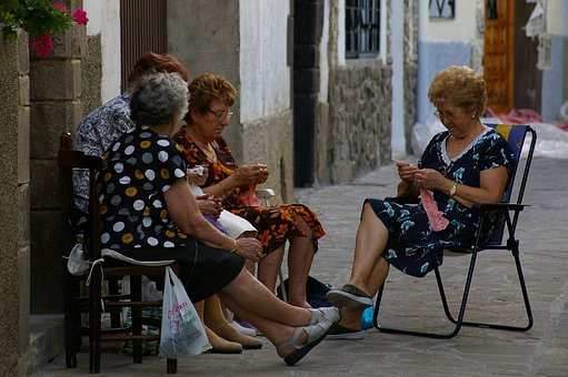 Spain, Needlework, Women, Age