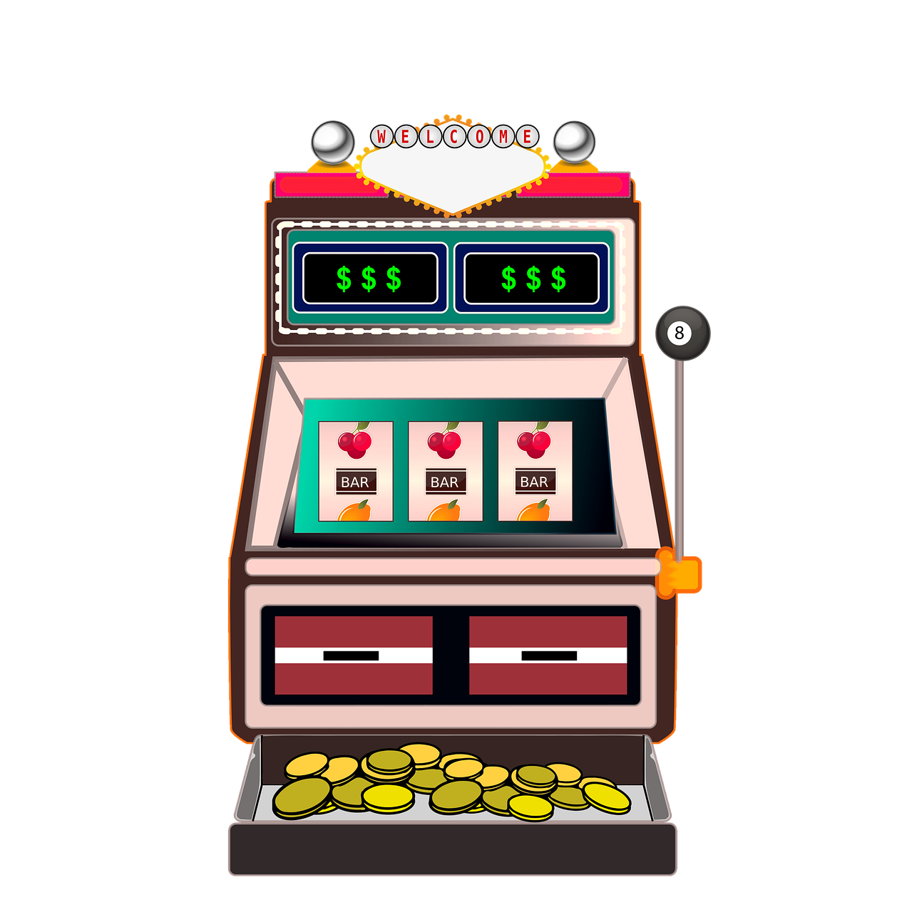 Slot machine drawing