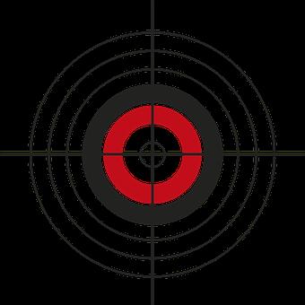 Zielscheibe, Ziel, Bogenschießen, Kreis