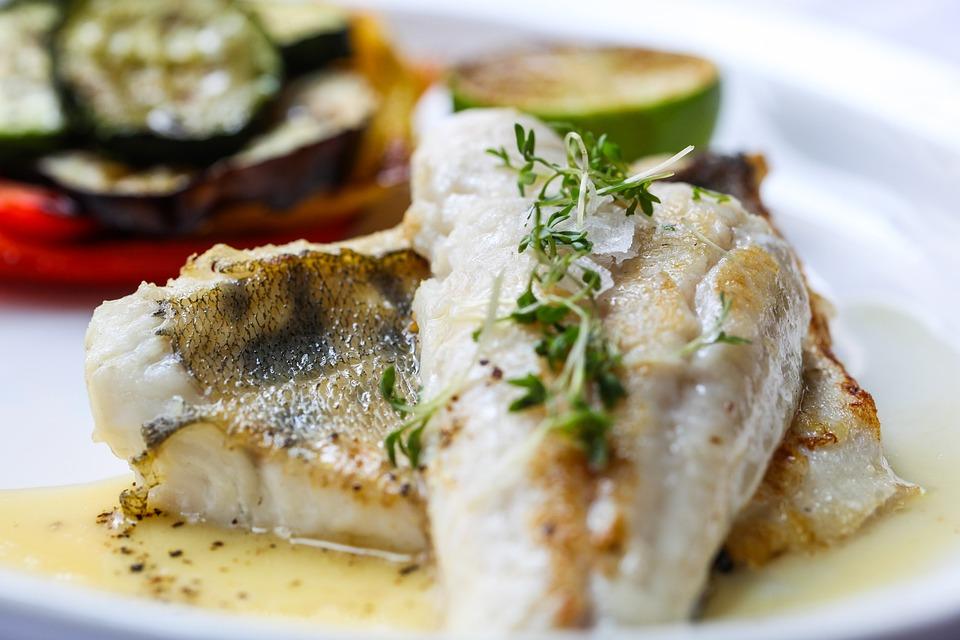 Рыба, Еда, Овощи, Диета, Лимон, Судак