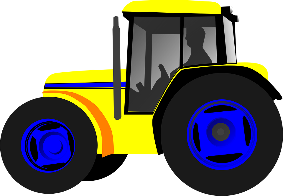 Drawing Man On Tractor : Трактор Фермер Сельское Хозяйство · Бесплатное изображение