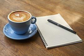 Coffee, Pen, Notebook, Caffeine