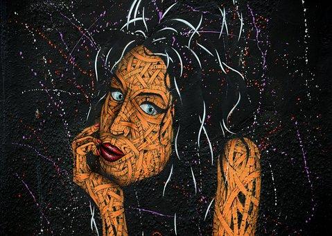 Street Art, Wall, Amy Winehouse, Mural