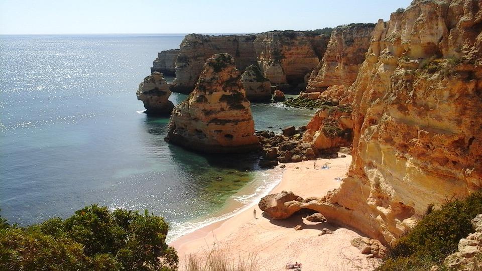 Algarve, Lagos, Portugal, Cliffs, Ocean, Sandstone, Sun