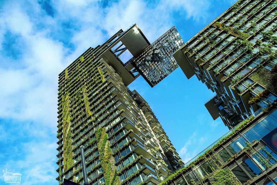 Gebäude, Pflanzen, Architektur, Anlagen Auf Gebäude