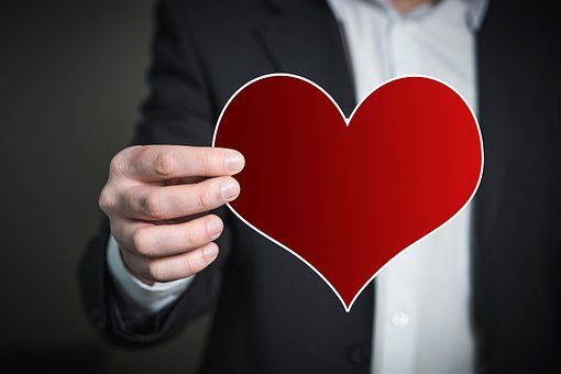 Hand, Man, Bitcoin, Keep, Present, Heart