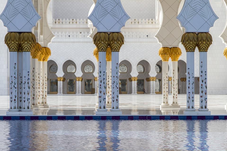 Abu Dhabi, Bleu, Mosquée