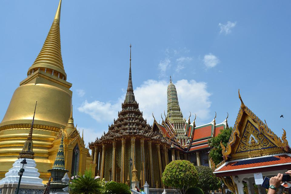 Tailandia, Bangkok, Palacio Real, Dorado, Monumento