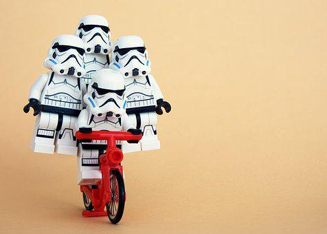 Lego, Stormtrooper, Cycling, Trick