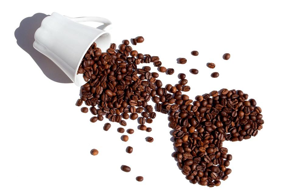 Caffè, Fagioli, Chicchi Di Caffè, Isolato, White