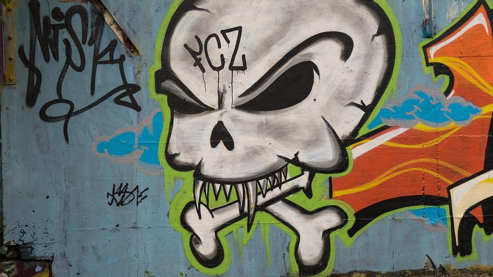 graffiti decoration skull and free photo on pixabay