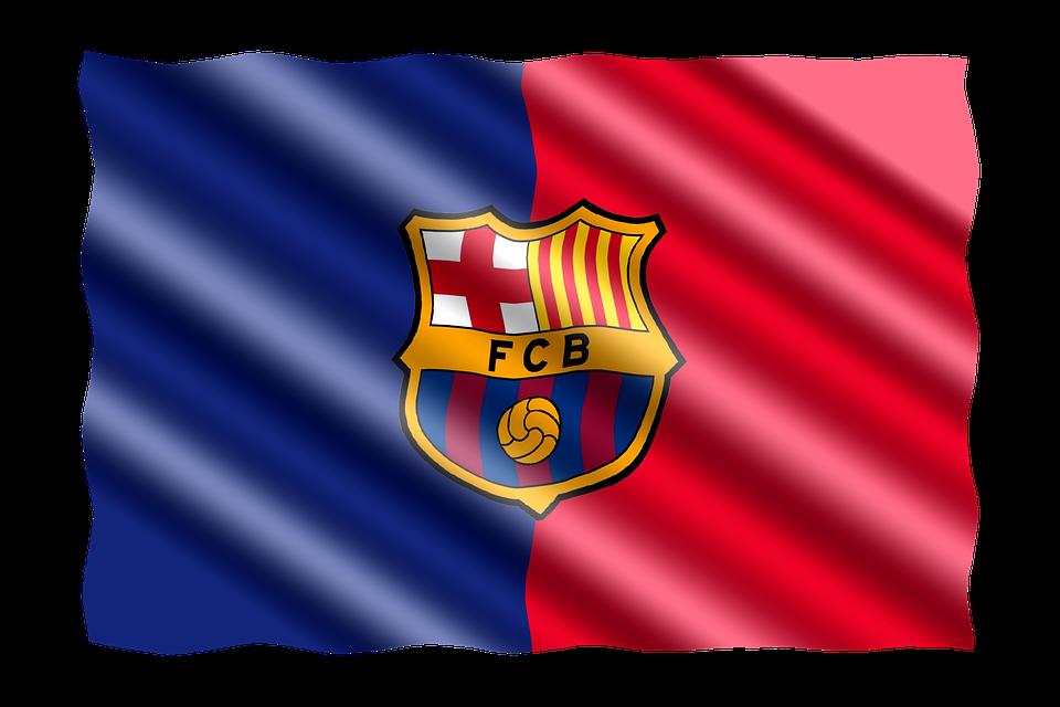 Football, International, Flag, Spain, Fc Barcelona