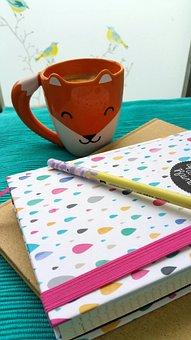 Coffee, Fuchs, Coffee Cup, Calendar, Pen