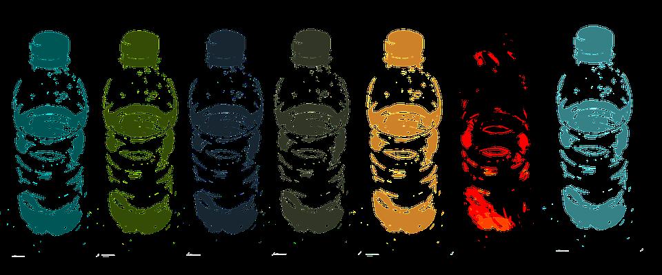 水, ボトル, ドリンク, コンテナー, ベクトル, 喉の渇き, 図面, イラスト, Pvc, グラフィックス