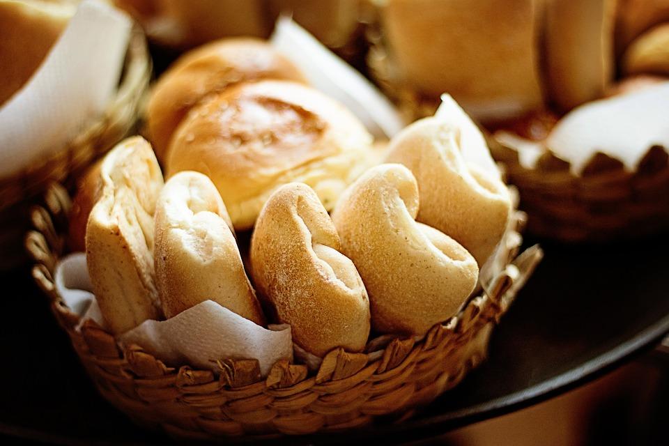 Cozido, Pão, Rolos, Frescos, Saudável, Levedura
