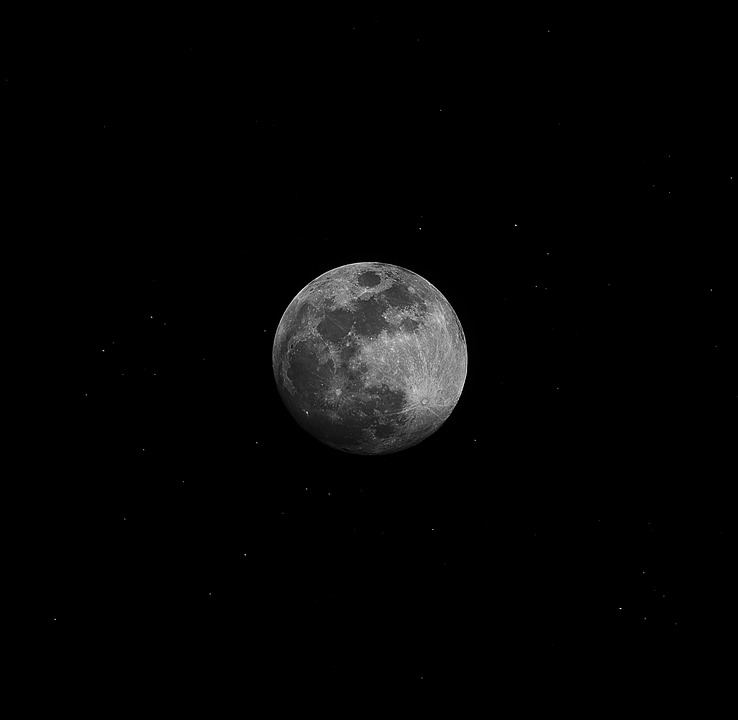 Free Photo: Moon, Night, The Night Sky
