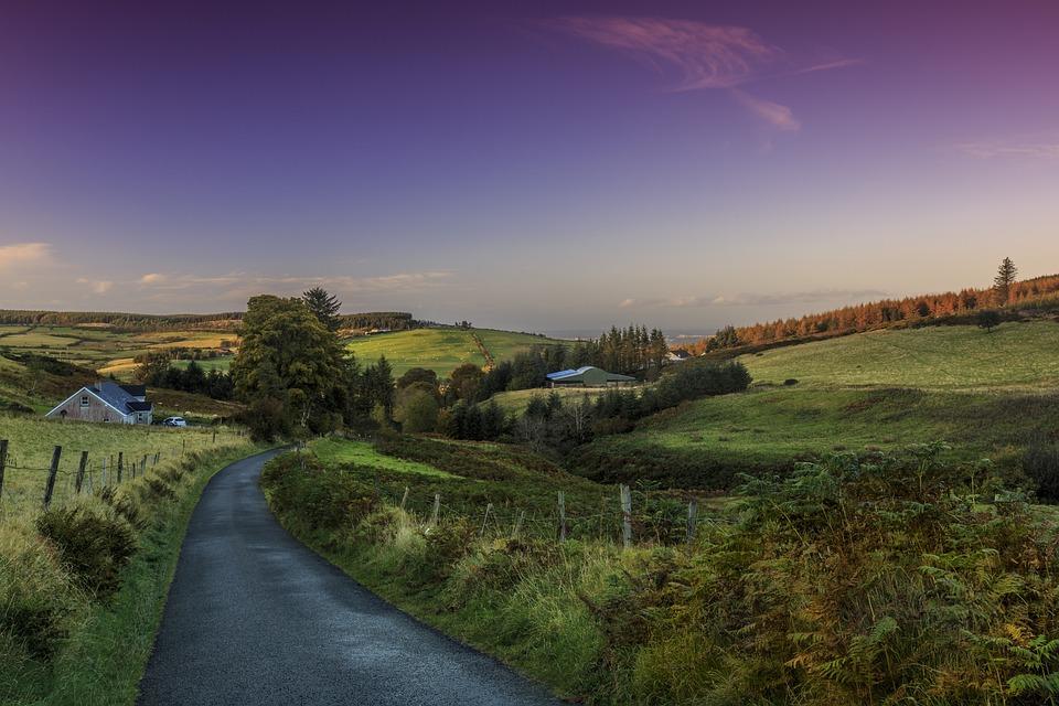 Paysage, Dublin, L'Irlande, Route, Nature