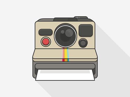 Polaroid Camera Room Photo Retro