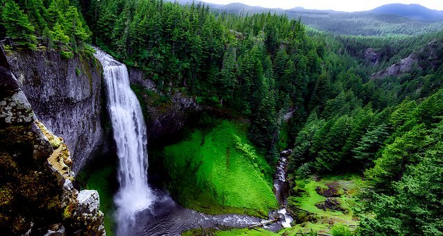 Salt Creek Falls, Waterfall, Landmark