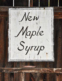 Maple Syrup, Maple, Vintage Sign, Sign