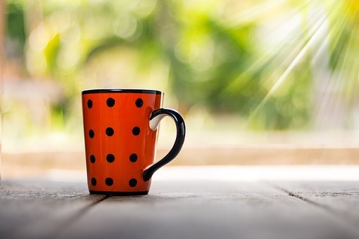 カップ, コーヒー, ビンテージ, ドリンク, カフェ, クローズアップ, ボケ