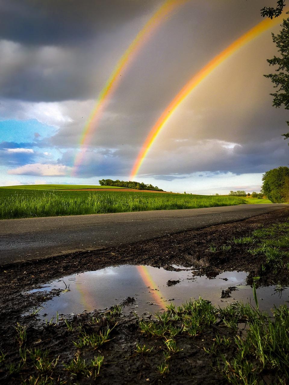 фото радуги после дождя дюма