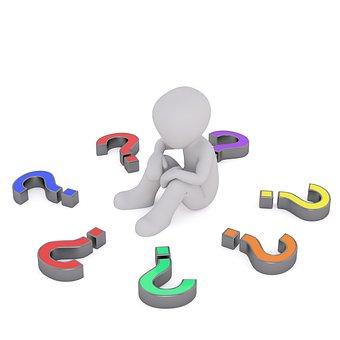 疑問符, 考慮します, 思う, 質問, 思考, 思想家, 熟考, 問題, 応答