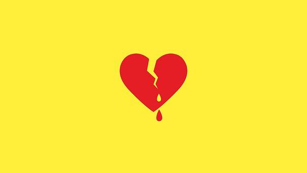 失恋, 心臓, 出血ハート, 壊れた, 愛, 赤, シンボル, ロマンス, 離婚