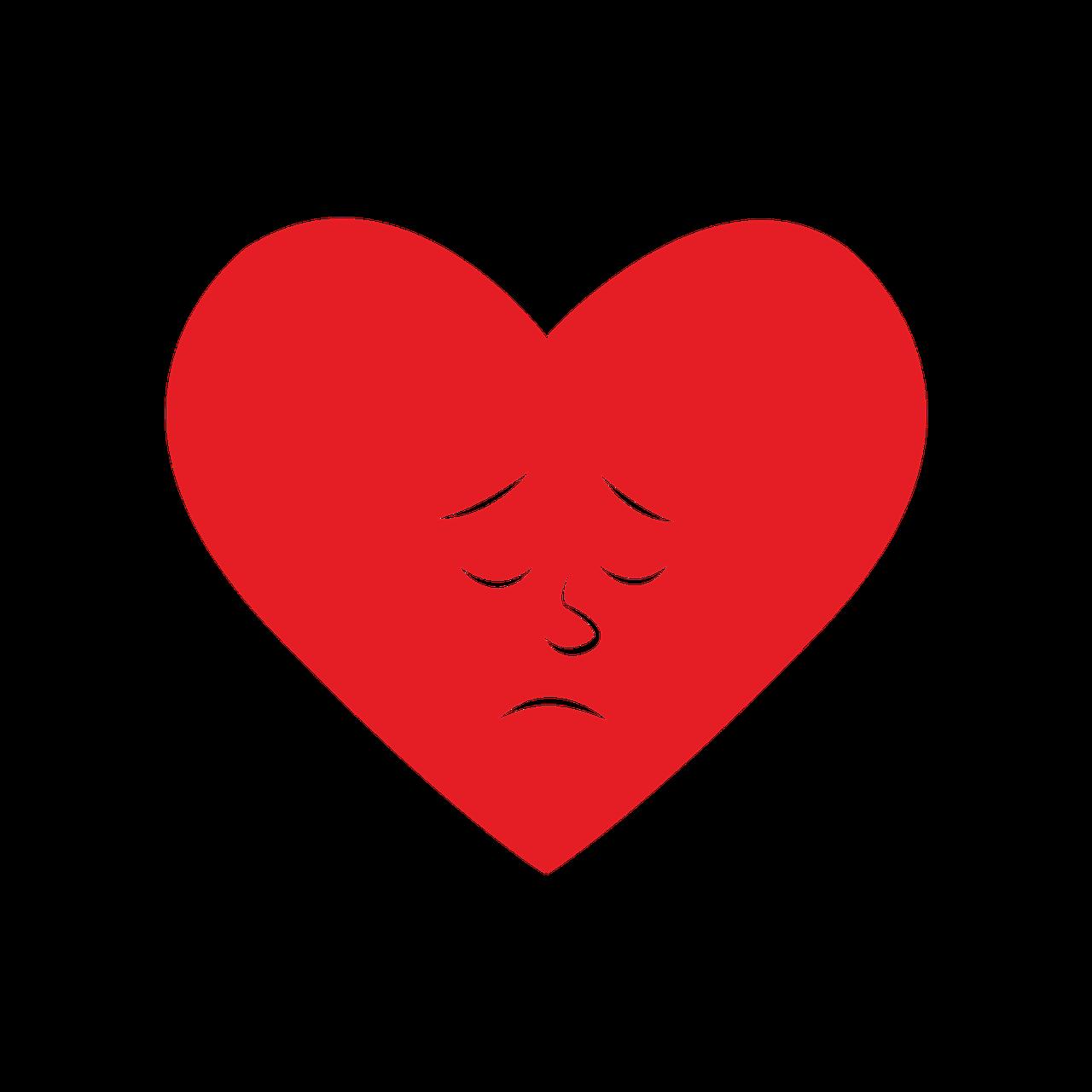 картинки грустные сердечки вместе