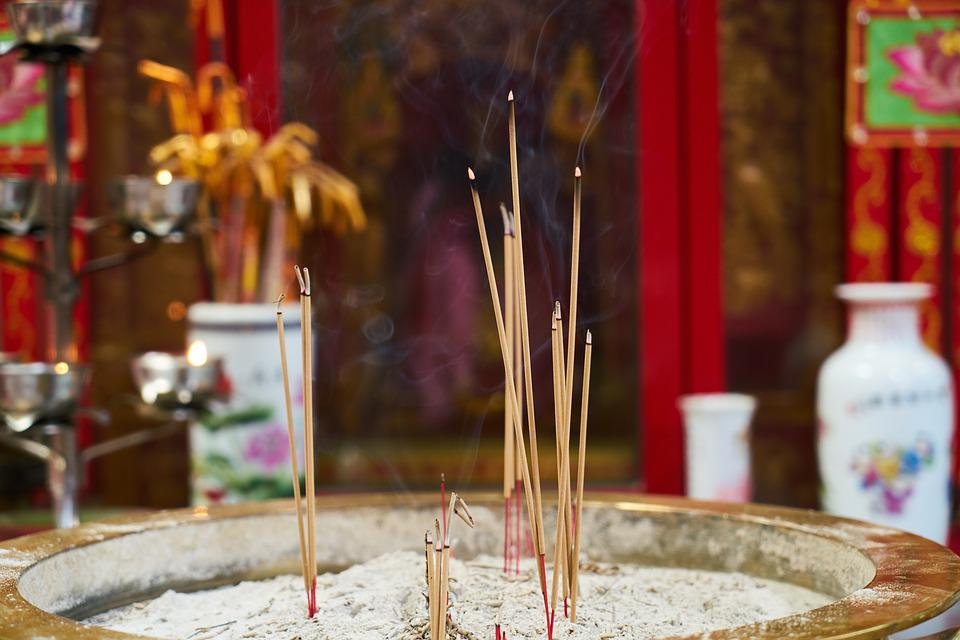 Incense, Smoke, Religion, Worship, Prayer, Buddhism