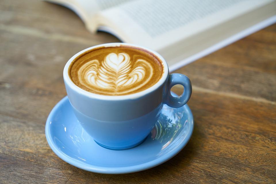 Latte Buch Kaffee Kostenloses Foto Auf Pixabay