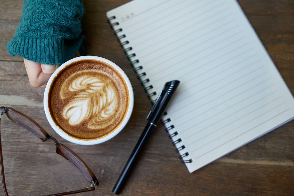 Café, La Cafeína, Notebook, Comida, Bebidas, Foto, Taza
