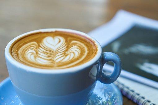 咖啡, 杂志, 阅读, 拿铁咖啡, 学习, 咖啡因, 早上, 早上好, 营养