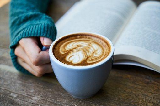 Café, Latte, Marrón, Fondo