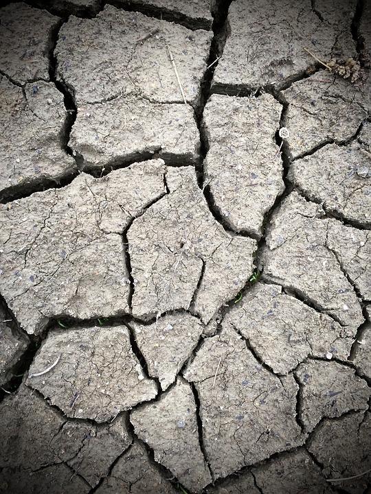 Mud, Dried, Soil, Earth, Gray Earth
