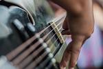 guitar, music, playing