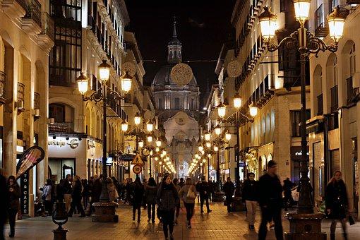 Night, City, People, Christmas, Street