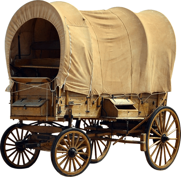 Free Illustration Covered Wagon Dare Plane Free Image