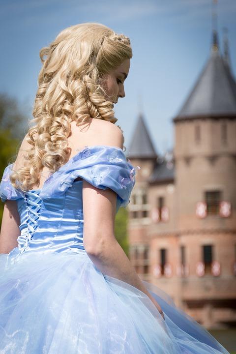 おとぎ話, モデル, シンデレラ, ファンタジー, 神秘的です, 城, ディズニー, 美容