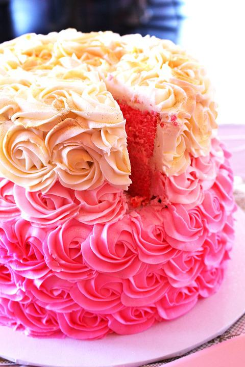 Baby Shower Cake Pink Free Photo On Pixabay