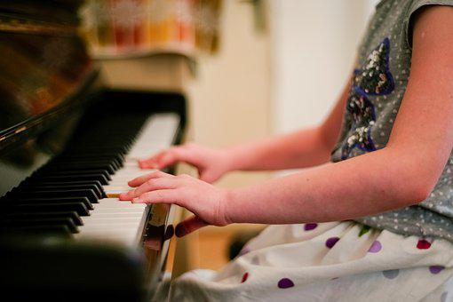 Piano, Children, Child, Music