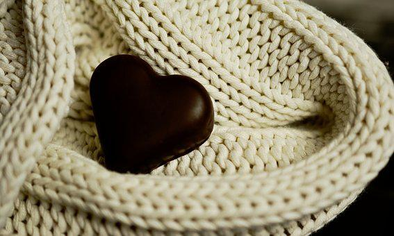 Heart, Chocolate Heart, Wool, Mesh, Love,124 Free images of Chocolate Day Related Images: Chocolate Love Heart  Valentine's Day  Candy  Hot Chocolate  Romantic  Romance  Valentine  Sweet