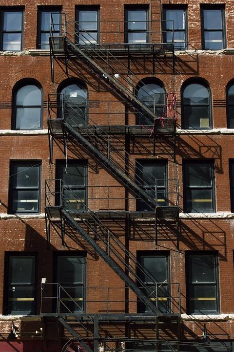 Building, Staircase, Fire Escape